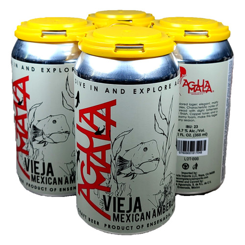Aguamala Vieja Amber Lager 4-Pack Can