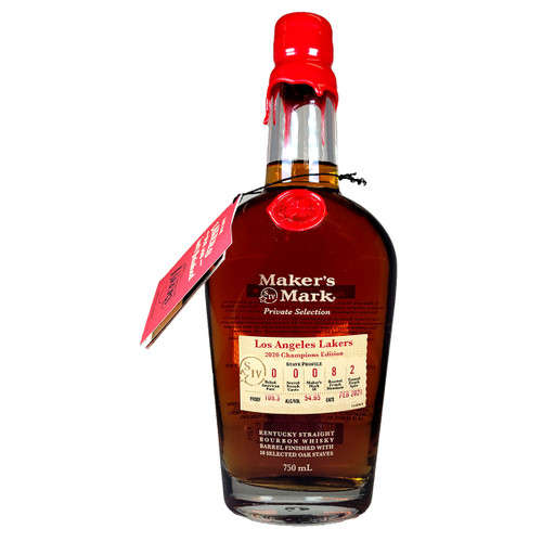 Maker's Mark L.A. Lakers 2020 Champion Edition 10 Stave Finish