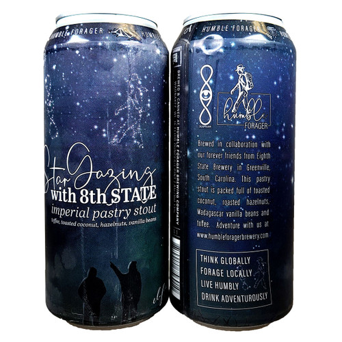 Humble Forager / 8th State Star Gazing Imperial Pastry Stout Can