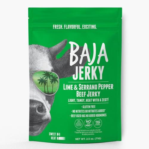 Baja Jerky Lime & Serrano 2.5oz