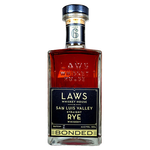 Laws San Luis Valley 6 Year Old Rye Whiskey Bottled In Bond