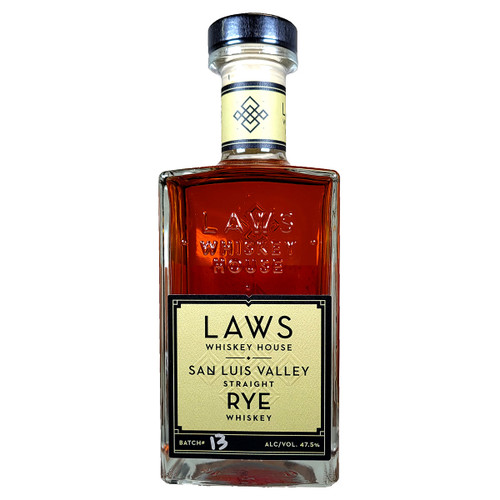 Laws San Luis Valley Straight Rye Whiskey