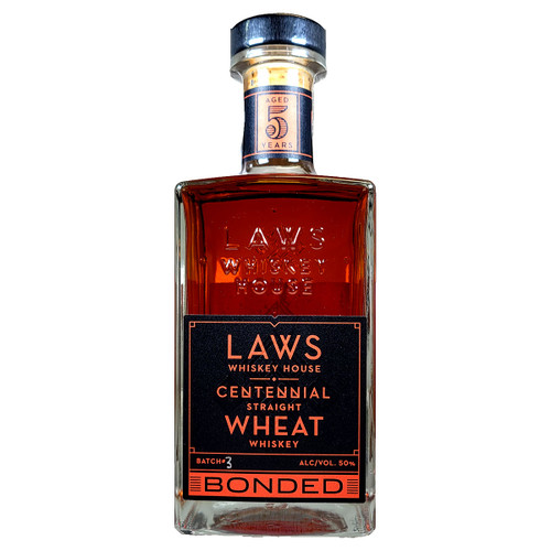 Laws Centennial Straight Wheat Whiskey Bonded