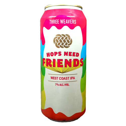 Three Weavers Hops Need Friends West Coast IPA Can