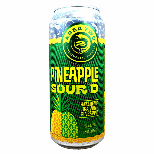 Area Two Pineapple Sour D Hazy Hemp IPA Can