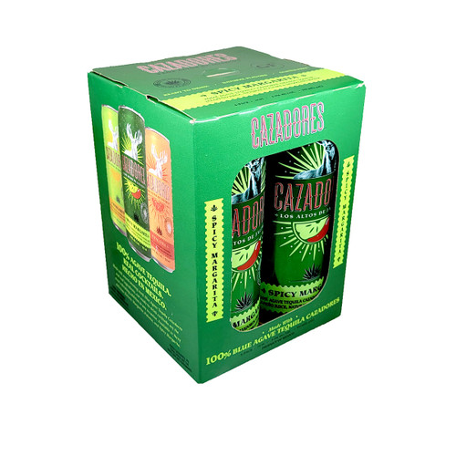 Cazadores Spicy Margarita Cocktail Ready-To-Drink 4-Pack Can
