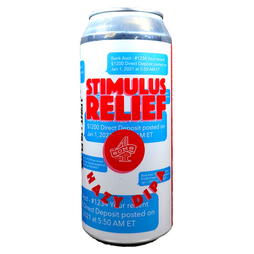 4 Sons Stimulus Relief Hazy DIPA Can