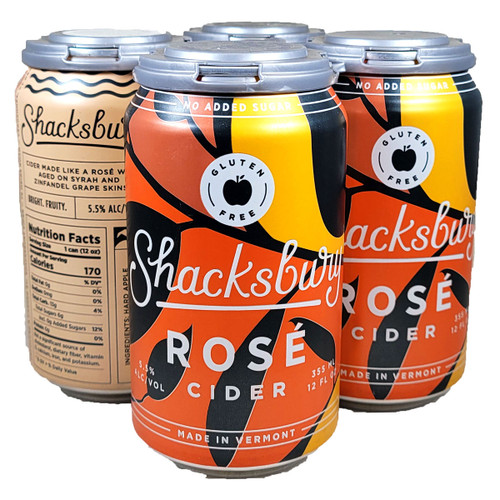 Shacksbury Rose Cider 4-Pack Can