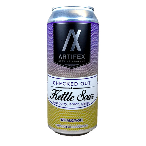 Artifex Checked Out Kettle Sour Blueberry Lemon Ginger Can