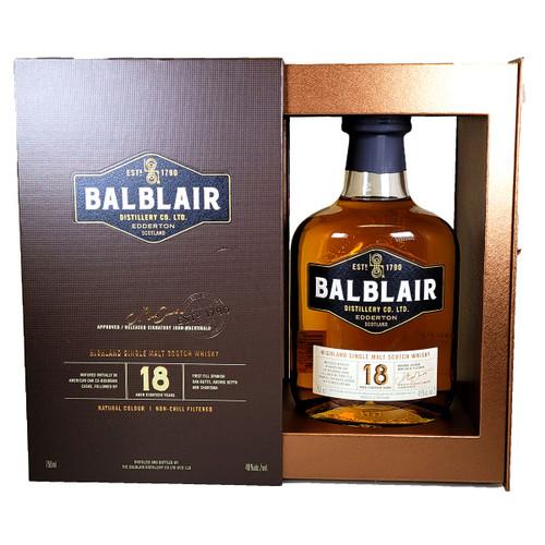 Balblair 18 Year Highland Single Malt Scotch Whisky