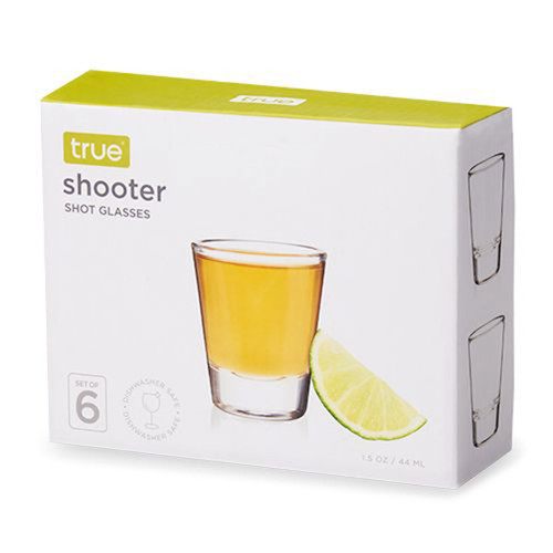 2 Ounce Glass Shooters Set Of 6 By True