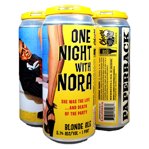 Paperback One Night With Nora Blonde Ale 4-Pack Can