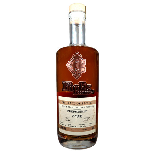 The Impex Collection Springbank 25 Year Single Malt Scotch Whisky Cask #94
