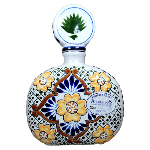 Los Azulejos Anejo Ultra Premium Tequila Ceramic Bottle