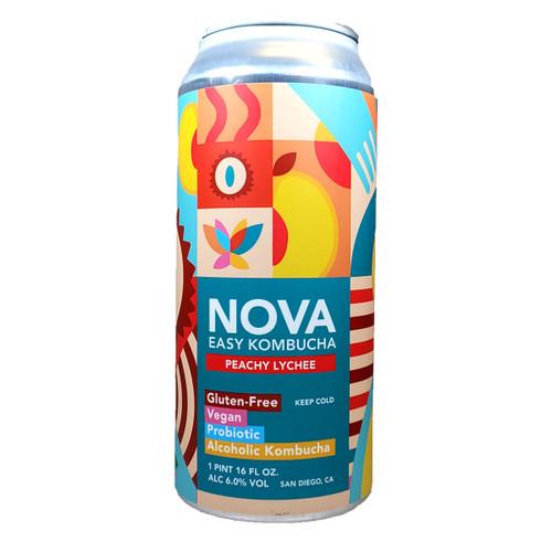 Nova Peachy Lychee Easy Kombucha Can
