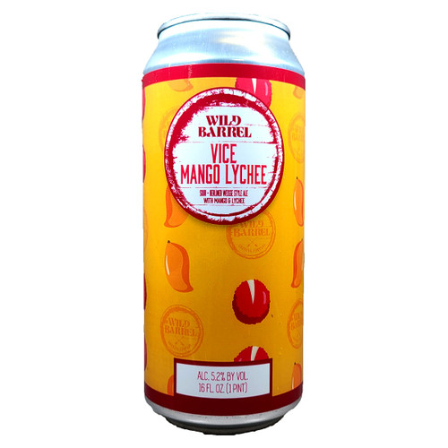 Wild Barrel Vice Mango Lychee Berliner Weisse Style Sour Can
