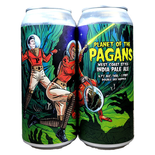 Paperback Planet Of The Pagans West Coast Style IPA Can 16oz