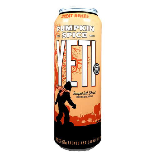 Great Divide Pumpkin Spice Yeti 19.2oz Can