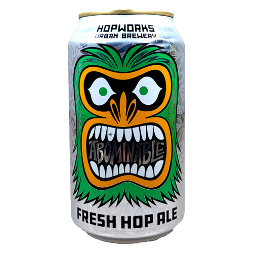 Hopworks Urban Abominable Fresh Hop India Style Red Ale Can