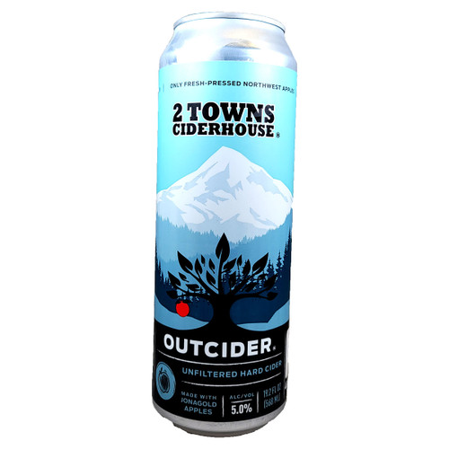2 Towns Outcider Unfiltered Hard Cider 19.2oz Can