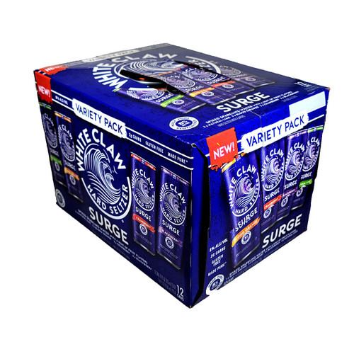 White Claw Surge Spiked Sparkling Water Variety 12-Pack Can