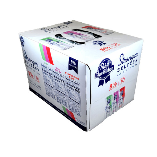 Pabst Stronger Seltzer Variety 12-Pack Can