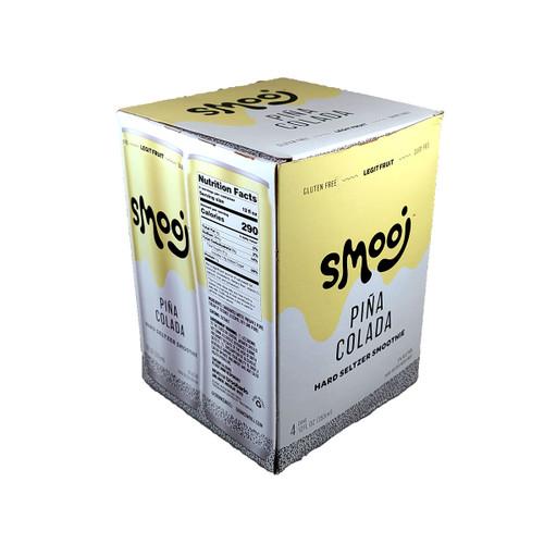 Smooj Pina Colada Hard Seltzer Smoothie 4-Pack Can, 12oz