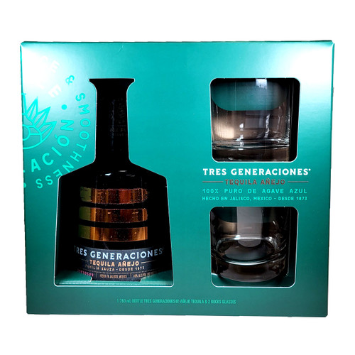 Tres Generaciones Anejo Gift Pack With 2 Glasses