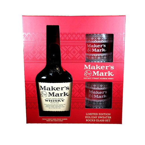 Maker's Mark Gift Pack With Holiday Glass