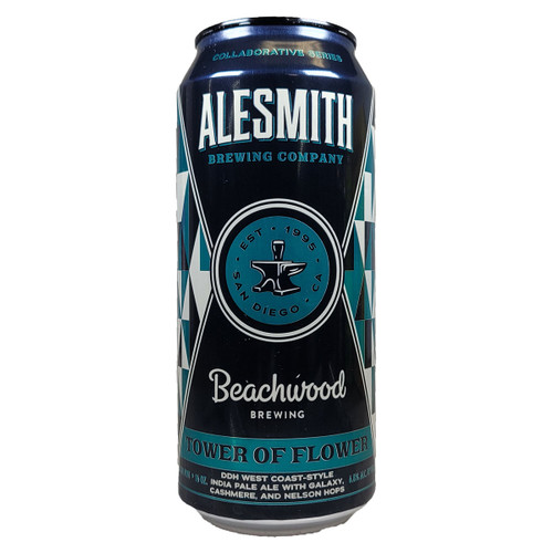 AleSmith / Beachwood Tower Of Flower DDH West Coast-Style IPA Can