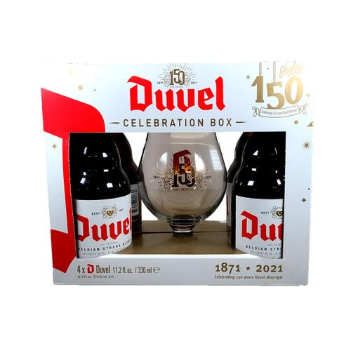 Duvel 150 Celebration Box 4-Pack w/ Glass