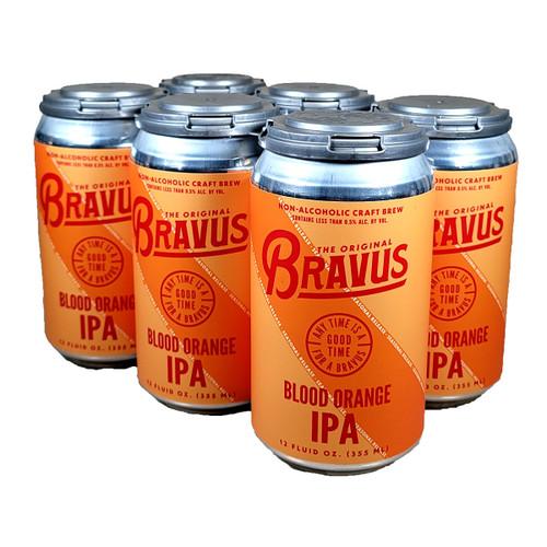Bravus Non-Alcoholic Blood Orange IPA 6-Pack Can