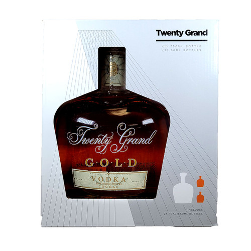 Twenty Grand Gold Vodka Infused With Cognac Gift Pack With 1 Peach 50ml