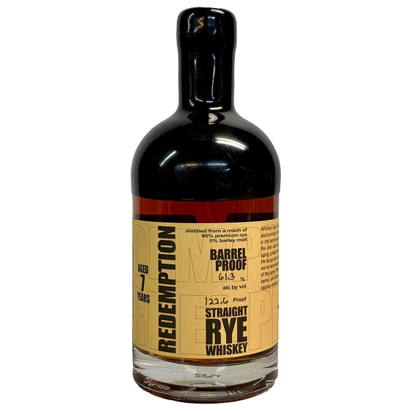 Redemption 7 Year 122.6 Proof Rye Whiskey