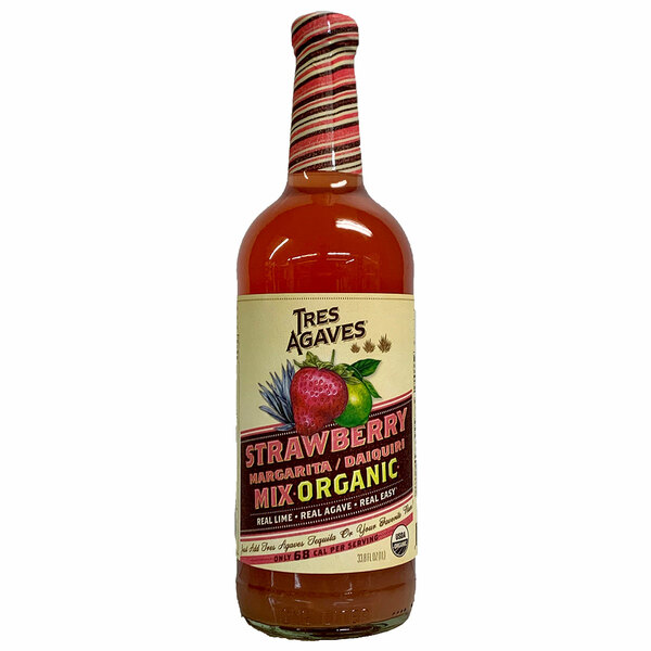 Tres Agaves Organic Strawberry Lime Margarita Mix