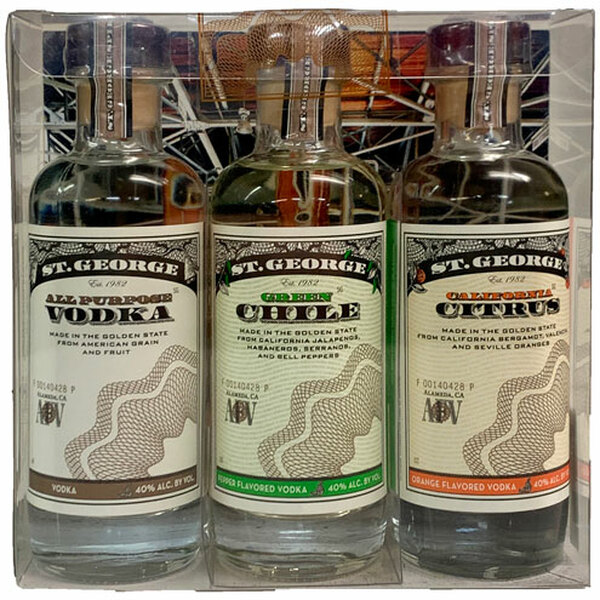 St George Vodka Three Bottle Sampler Gift Pack