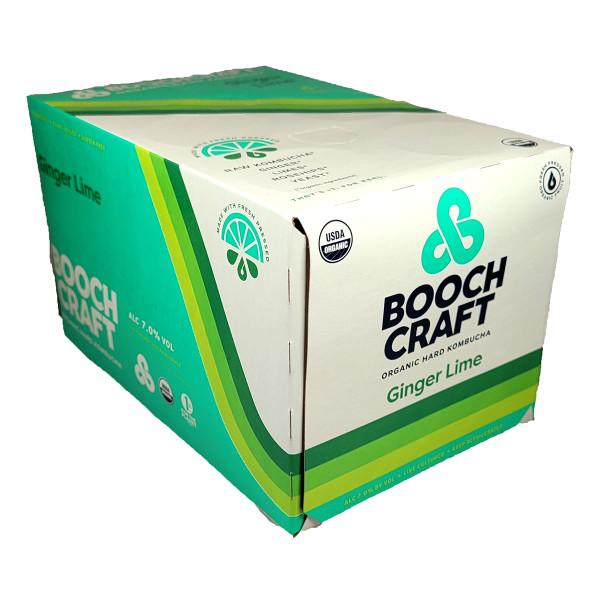 Boochcraft Ginger Lime Rosehips Kombucha 6-Pack Can