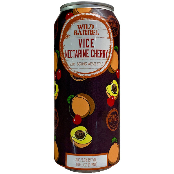 Wild Barrel Vice Nectarine Cherry Berliner Weisse Style Sour Ale Can