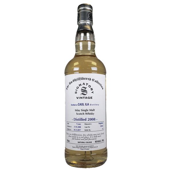 Signatory Un-Chillfiltered Collection Caol Ila 2008 9 Year Single Malt Scotch Whisky