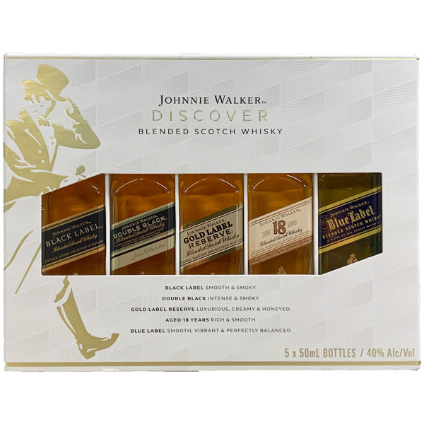 Johnnie Walker Scotch Whisky Discover Pack 5X50ML