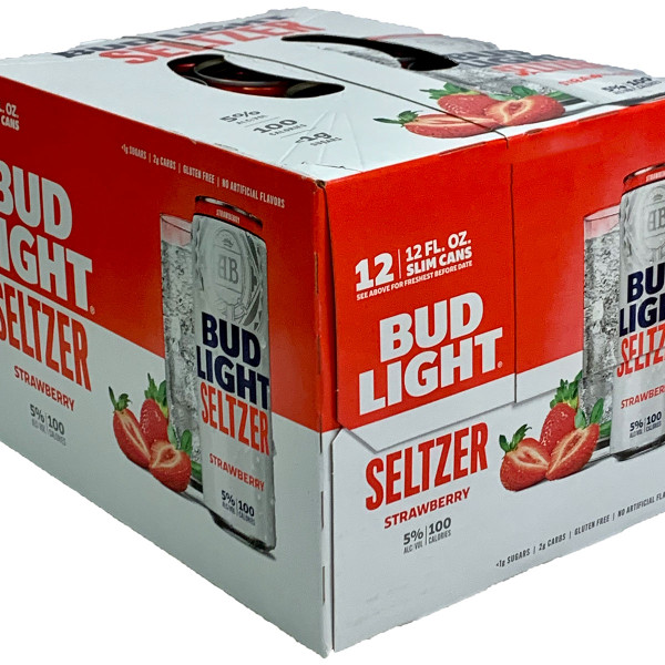 Bud Light Hard Seltzer Strawberry 12-Pack Can