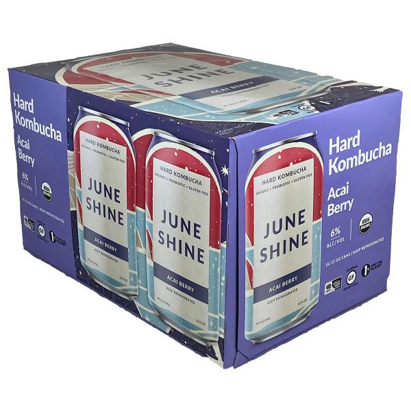 JuneShine Acai Berry Kombucha 6-Pack Can