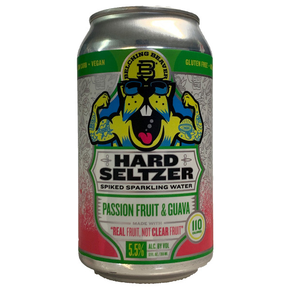 Belching Beaver Passion Fruit & Guava Hard Seltzer 6-Pack Can