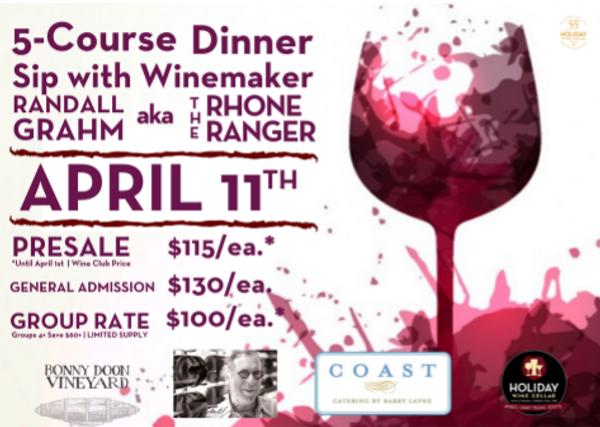 Bonny Doon Winemaker Dinner with Randall Grahm -- POSTPONED