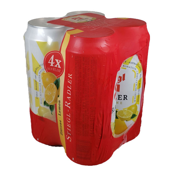 Stiegl Radler Lemon 4-Pack Can