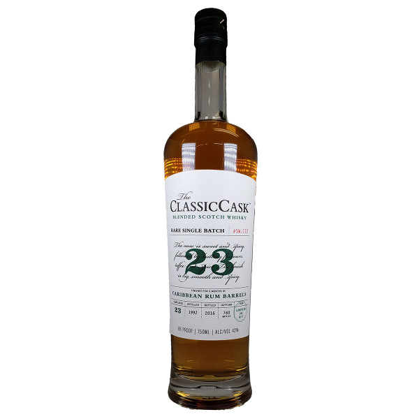 The Classic Cask 23 Year Old Caribbean Rum Finished Scotch Whiskey