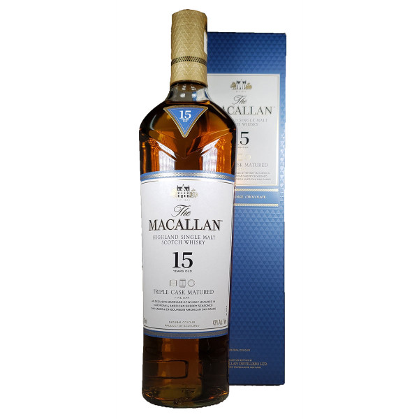 Macallan Triple Cask 15 Year Single Malt Scotch Whiskey