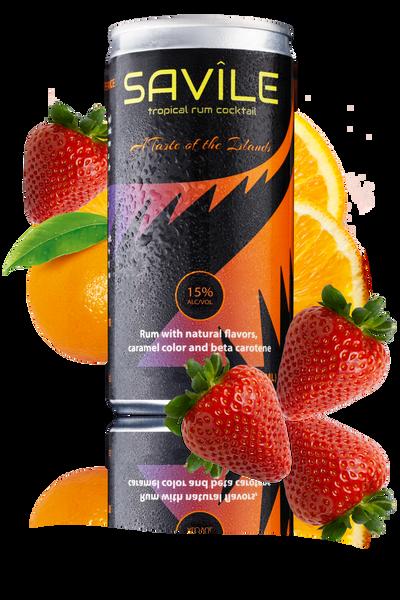 Savile Tropical Rum Cocktail 4-Pack 200ML