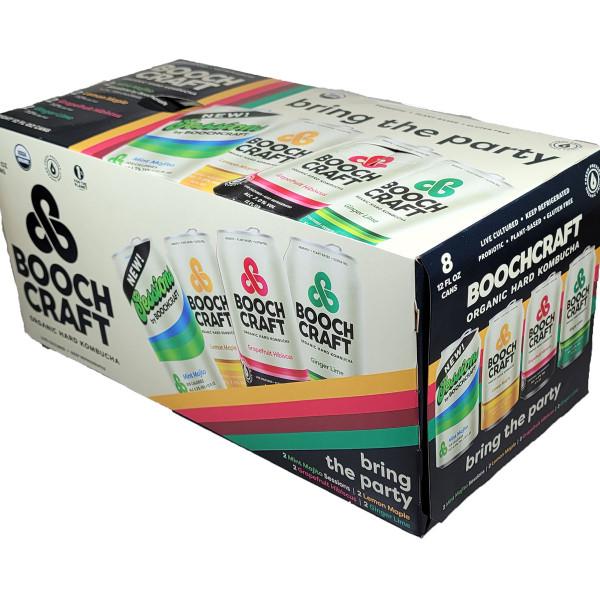 Boochcraft Organic Hard Kombucha Variety 8-Pack Can