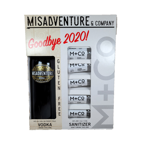 Misadventure Vodka Say Goodbye to 2020 Gift Pack With 5 Hand Sanitizers